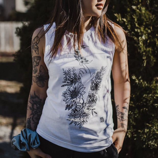 The Ashh Tank - XXL SCRUNCHIE & CO / White