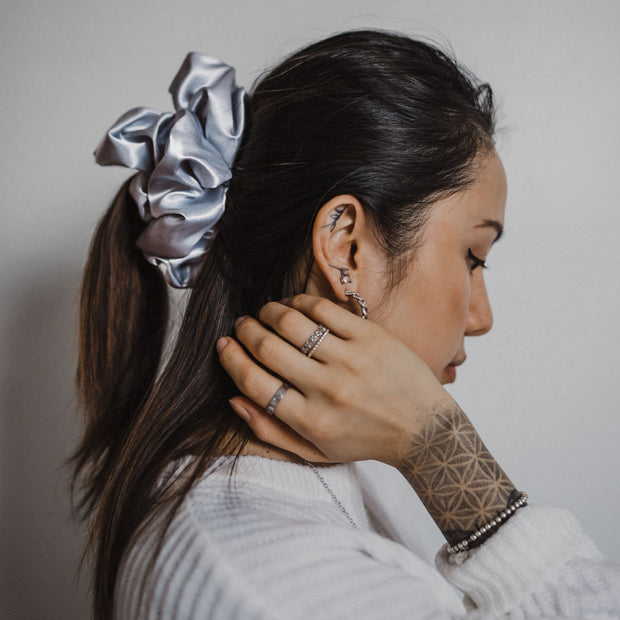 LINDSAY - XXL SCRUNCHIE & CO / Silver