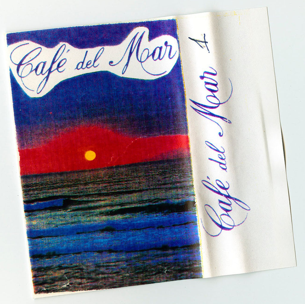 Cassette cover of Cafe del Mar Volume 1 compiled by José Padilla.