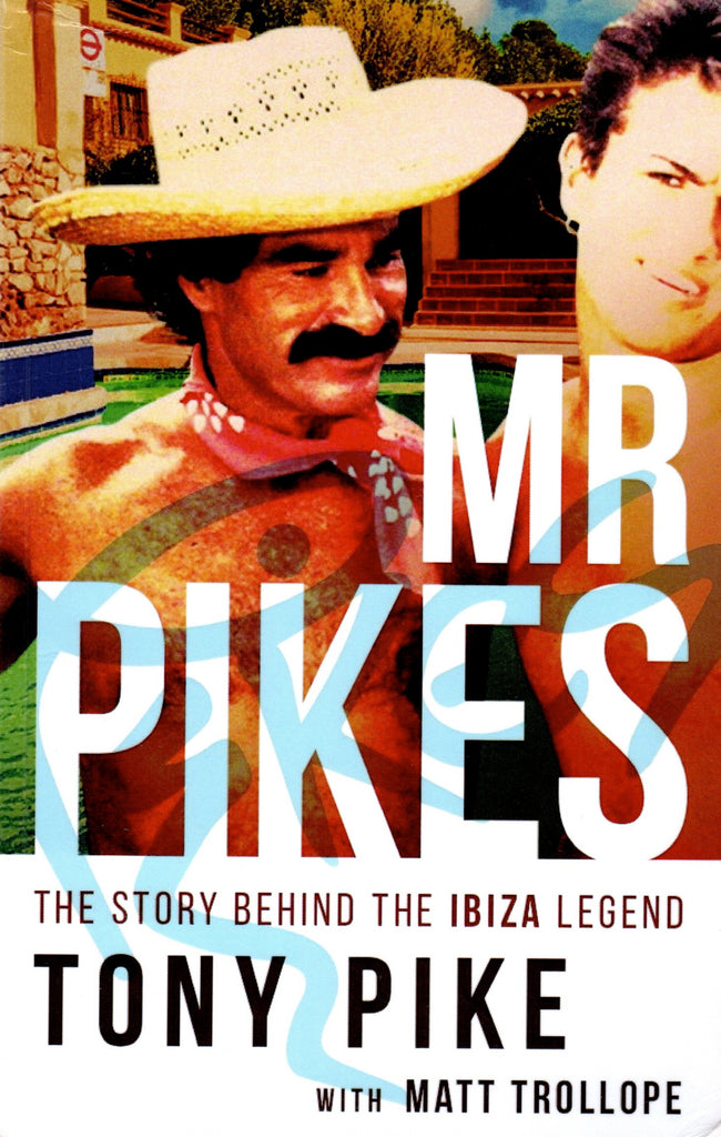 Book cover of Mr Pikes with illustration of Tony Pike with George Michael.