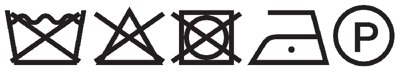 Silk washing instruction symbols