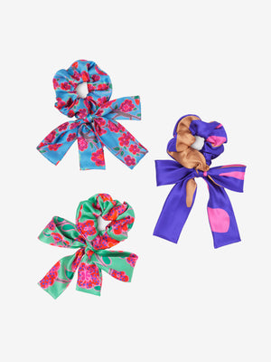 Island Dreams Bow Scrunchie Trio