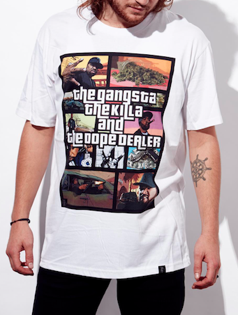 The Gangsta, The Killa and The Dope Dealer (Colours Available: White, Black)
