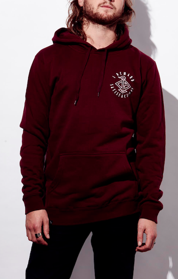 """IDS"" Hooded jumper ( Colours Available: Black, Burgundy )"