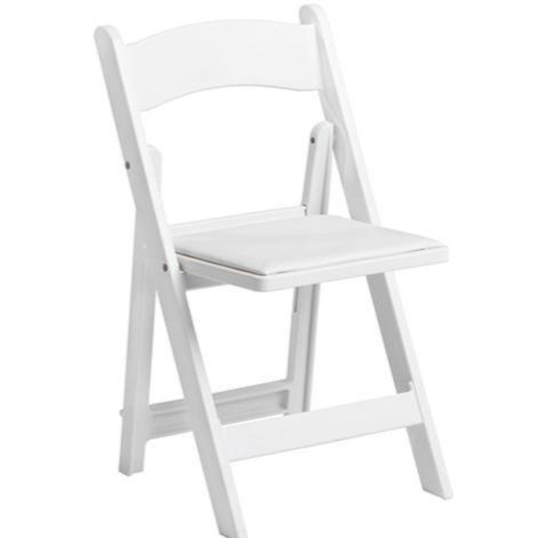 White Padded Garden Chair