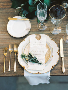 Gold Flatware Place-Setting