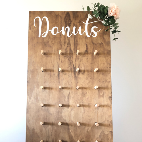 Beautiful Freestanding Donut wall for a fun way to display your desert