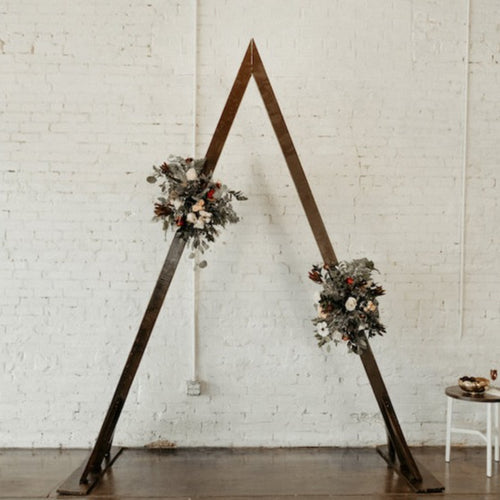 Boho Styled Sturdy Triangle Arch for rent