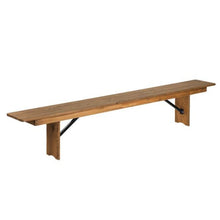 Load image into Gallery viewer, Solid Wood Rustic Farmhouse Bench