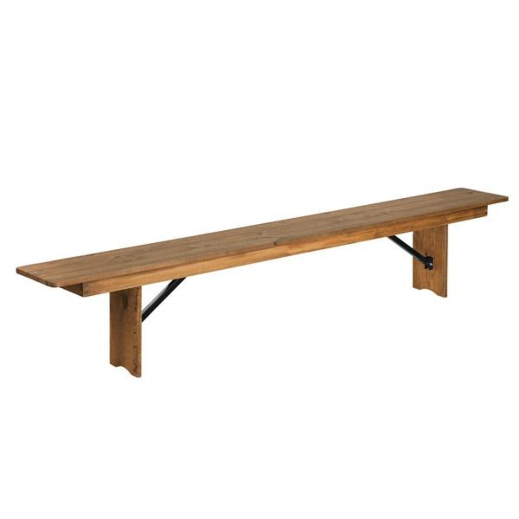 Solid Wood Rustic Farmhouse Bench