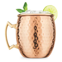 Load image into Gallery viewer, Moscow Mule Pure Copper Handcrafted Mug for weddings and events
