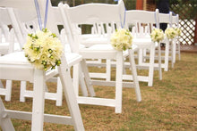 Load image into Gallery viewer, White Padded Garden Chair