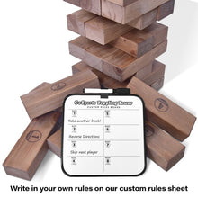 Load image into Gallery viewer, Unique Rustic Wood Giant Jenga Yard Game