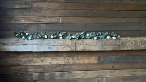 Eucalyptus and Ivory Rose Garland