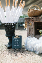 "Load image into Gallery viewer, White 60"" Wedding Umbrellas"