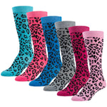 6 Pairs of Colorful Leopard Printed Knee High Socks