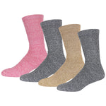 Merino Wool Socks, Warm Crew Thermal Socks For Winter, Men's and Women's Extreme Cold Weather Socks, Light Assorted Colors, Size 10-13