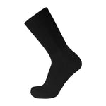 Black Crew Socks Cotton Soft With Wide Nonbinding Top