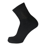 Black Non Binding Cotton Diabetic Ankle Socks