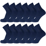 Navy Diabetic Non Binding Ankle Socks 12 Pairs