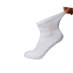 Non-Skid Diabetic Cotton Quarter Socks with Non Binding Top