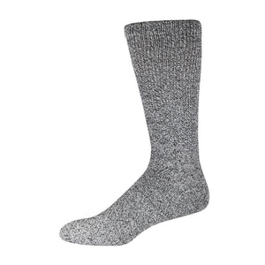 Dark Gray Marled Crew Sock For Diabetics