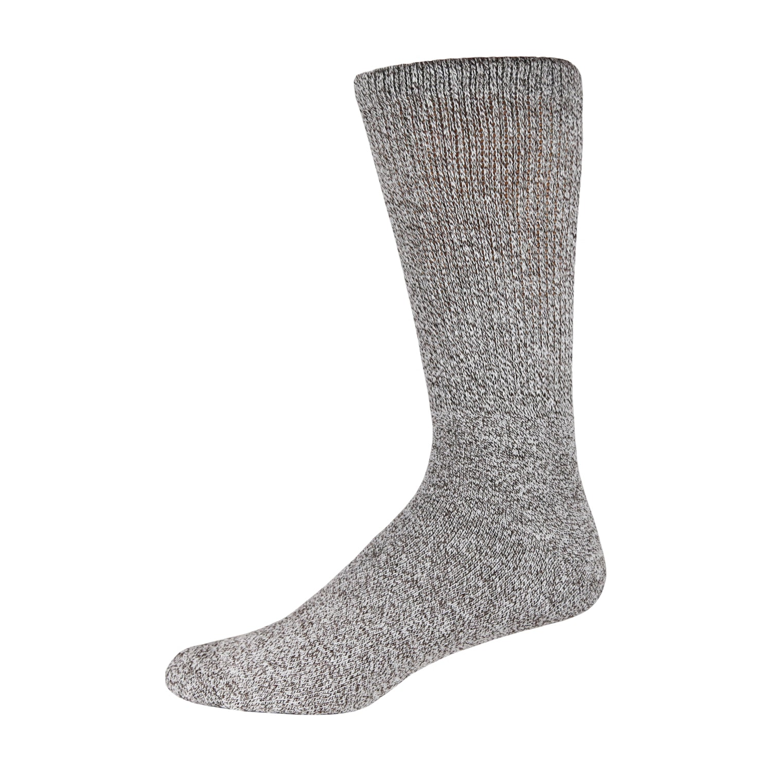 Light Grey Marled Boot Sock For Diabetics