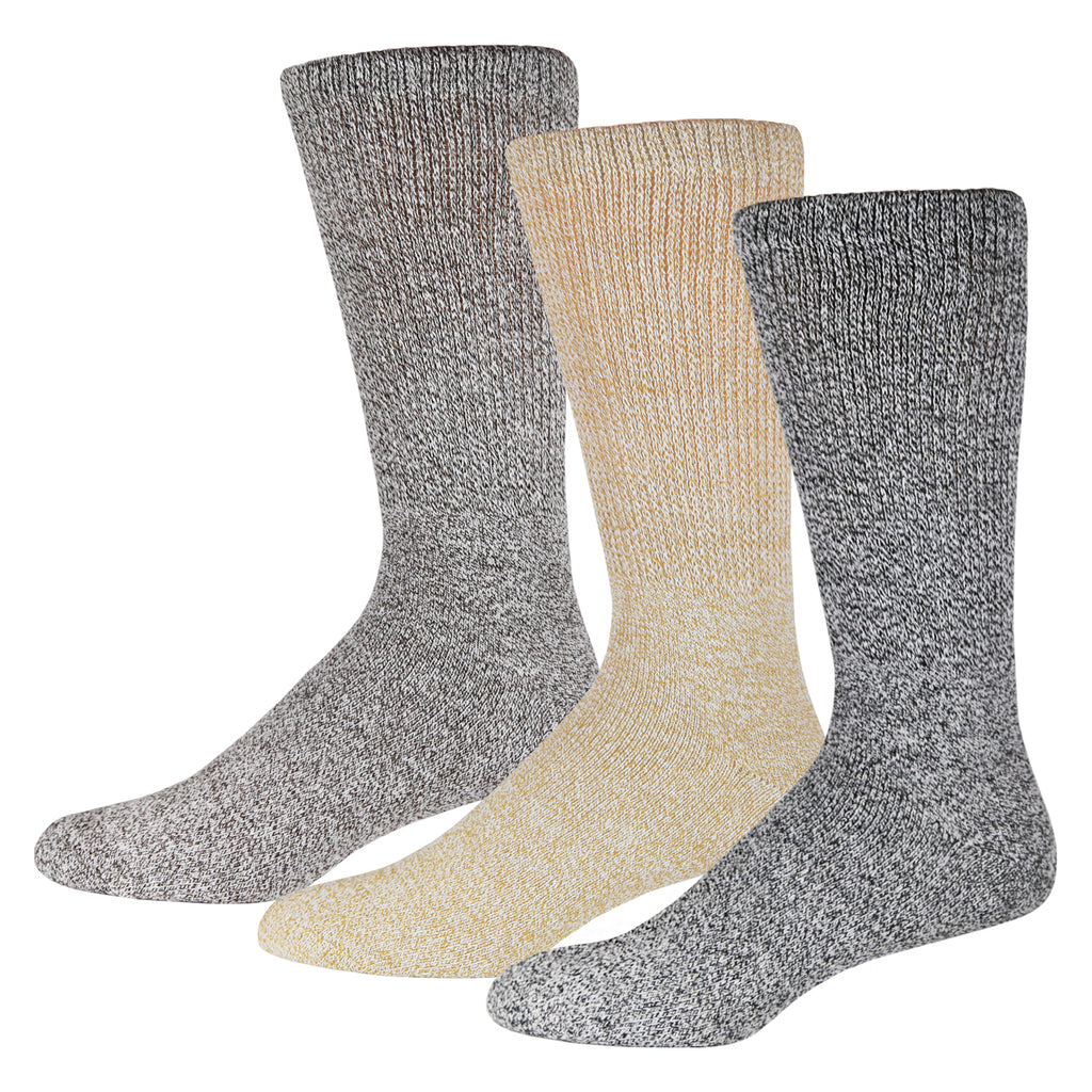 3 Pairs Of Soft Socks For Diabetics Marled Heather Gray