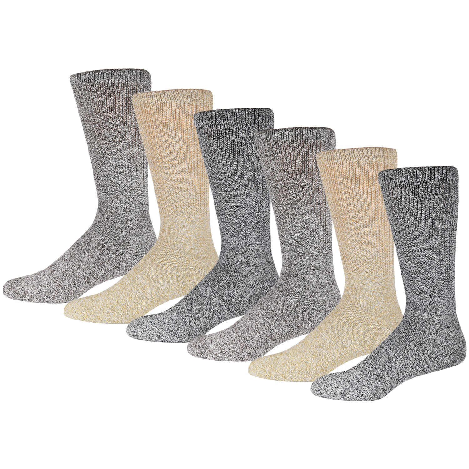 6 Pairs Of Soft Socks For Diabetics Marled Heather Gray