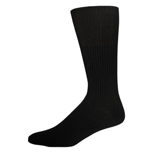 Men's Diabetic Dress Socks Crew Length with Loose Top