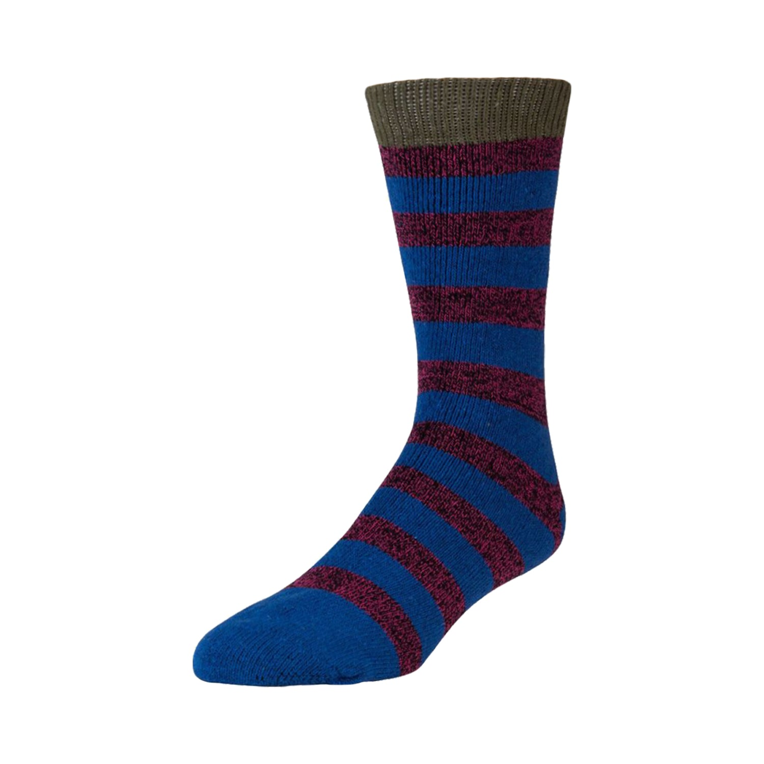 Men's Boot Thermal Hiking Striped Crew Socks, Size 10-13