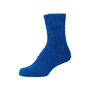 Womens Fluffy Dark Blue Fuzzy Socks