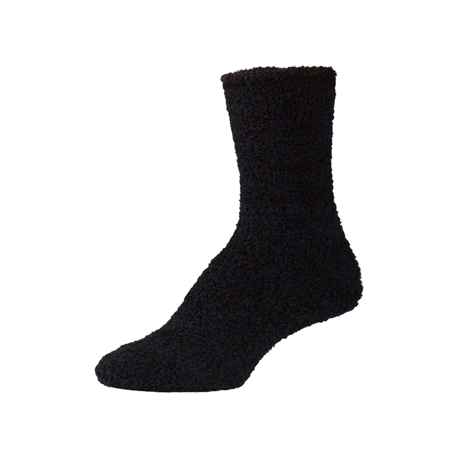 Womens Fluffy Black Fuzzy Socks