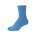 Womens Fluffy Blue Fuzzy Socks