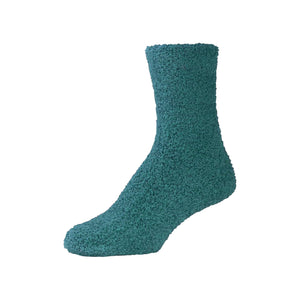 Womens Fluffy Green Fuzzy Socks