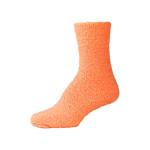 Womens Fluffy Orange Fuzzy Socks