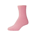 Womens Fluffy Pink Fuzzy Socks