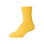 Womens Fluffy Yellow Fuzzy Socks