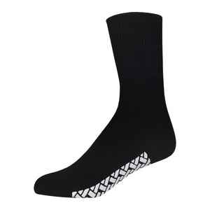 Black Women's Hospital Socks With The Rubber On The Bottom Of Them And Loose Top