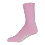 Pink Women's Hospital Socks With The Rubber On The Bottom Of Them And Loose Top