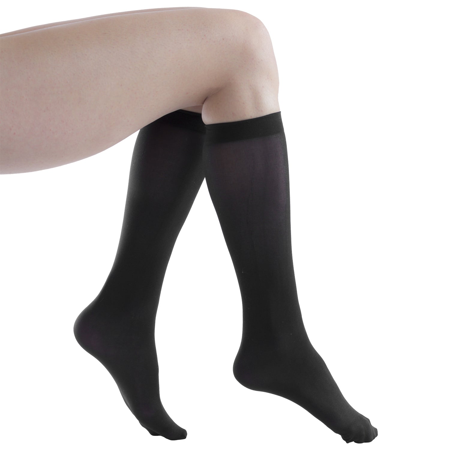Women's Opaque Stretchy Spandex Knee High Trouser Socks, Size 9-11
