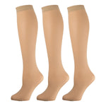 Women'S Opaque Trouser Socks Beige 3 Pairs