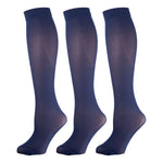 Navy Opaque Knee Highs 3 Pairs