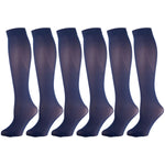 Navy Opaque Knee Highs 6 Pairs