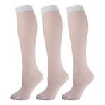 White Opaque Knee High Socks 3 Pairs