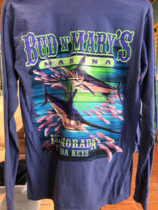 Swordfish shirt long sleeve cotton.