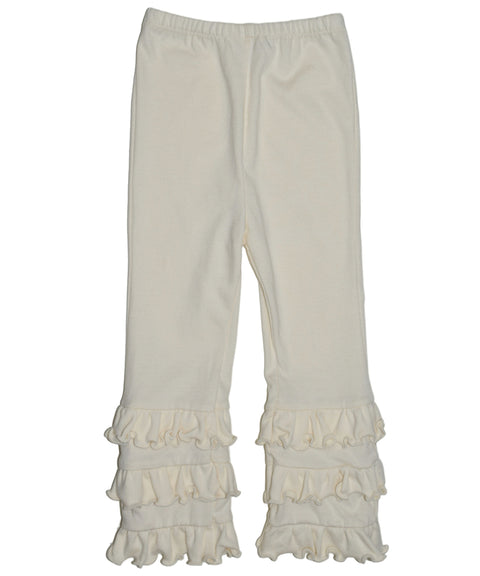 Organic cotton ruffle pant girls legging | Made in USA