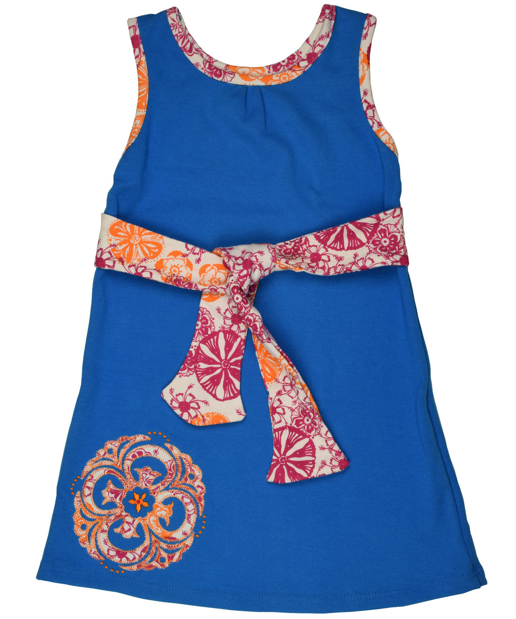 Summer medallion tie dress