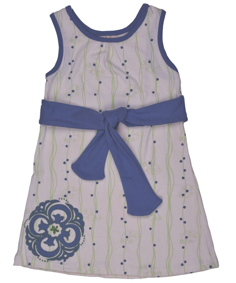 Vines + berries tie dress