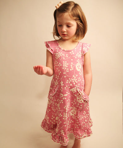 Twig berries flutter dress